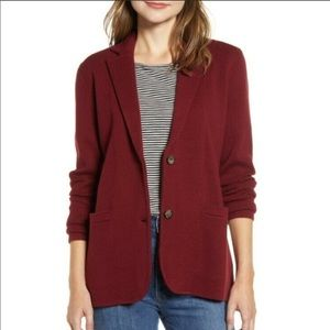 J.CREW Maroon Double Button Sweater Blazer